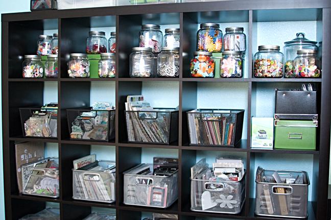 Expedit Ikea Bookcase Ideas ~ Ikea Expedit Bookcases  Craft Storage Ideas