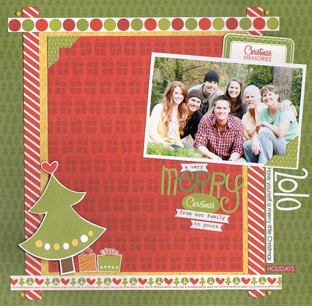 GRETCHEN MERRY CHRISTMAS layout