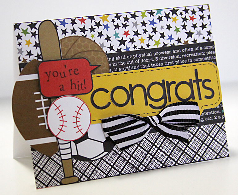 ALICE CONGRATS card