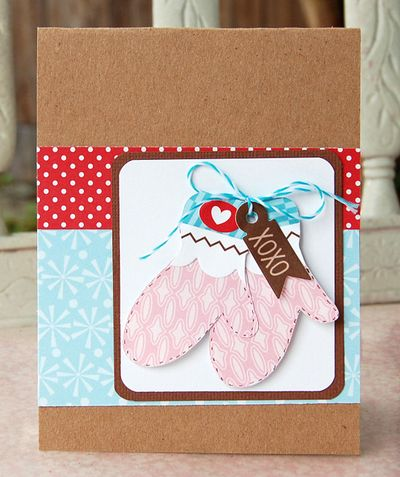 Charity- xoxo mittens card