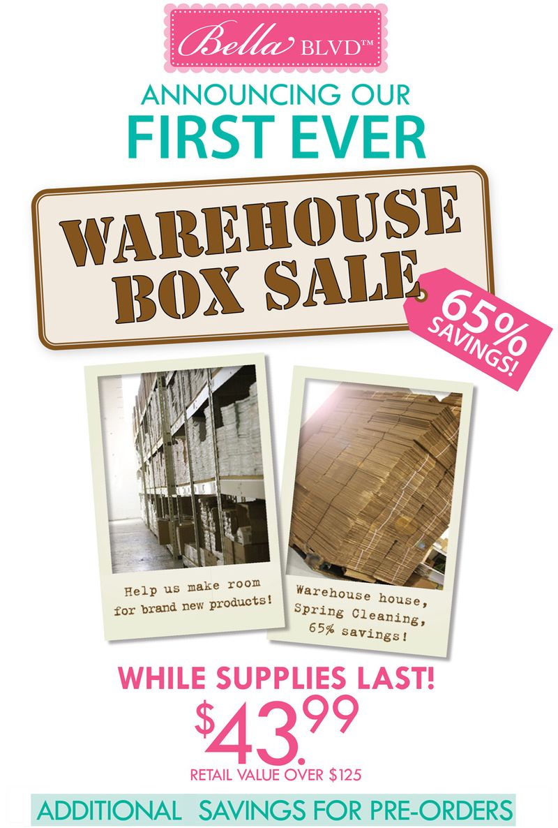 bella blvd warehouse sale scrapbook