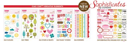 SOPHISTICATES NEW CHIPBOARD ELEMENTS