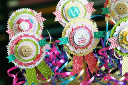 LauraVegas_BirthdayGirl_PaperAwardRibbons_AlteredProject2