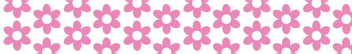 296 PINK FLOWERS 19mm