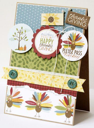 GretchenMcElveen_Thankful card1_Please Pass the Turkey card