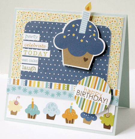 GretchenMcElveen_Birthday Boy card2_Happy birthday cupcake card