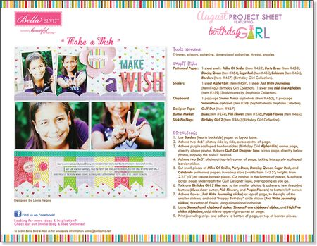 BB BIRTHDAY GIRL PROJECT SHEET