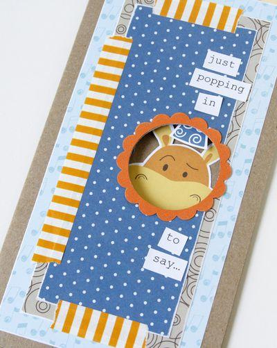 Gretchen McElveen_Card Tutorial_PeekaBoo birthday card_closeup