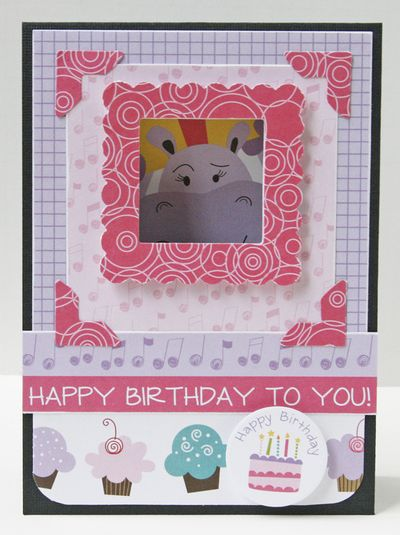 Gretchen McElveen_Birthday Girl peekaboo card