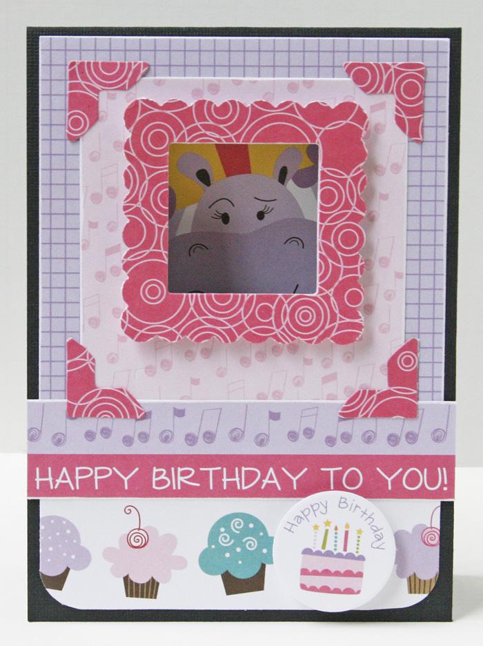Gretchen McElveen_Birthday Girl peekaboo card