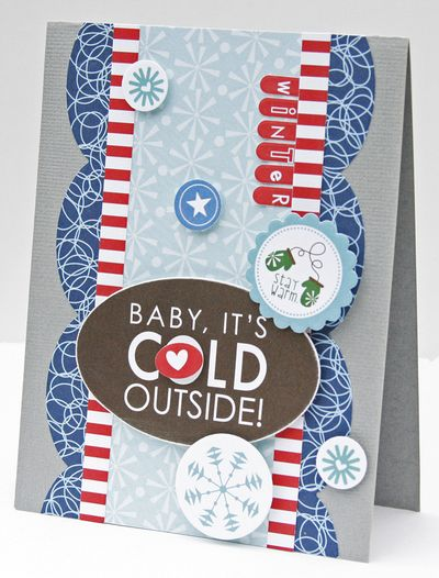 Gretchen McElveen_Winter card_Baby its cold outside card