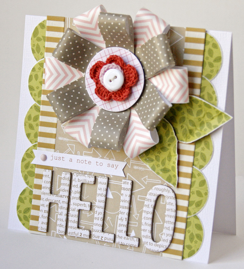 Gretchen McElveen_Designer Tapes_Hello card