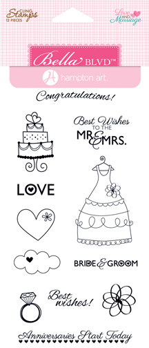 LOVE AND MARRIAGE STAMP SET-HAMPTON