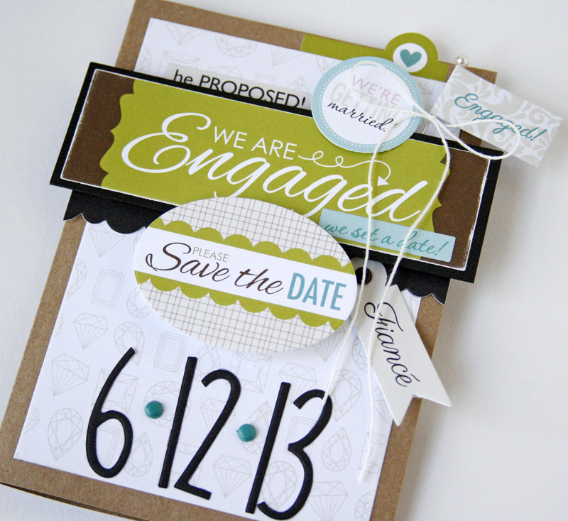 Gretchen McElveen_Engaged at Last_Save the Date card close up