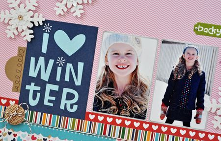 I love winter - layout - sheri reguly - detail 1