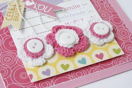 GretchenMcElveen_Crochet Flowers card2_close up1_Celebrate