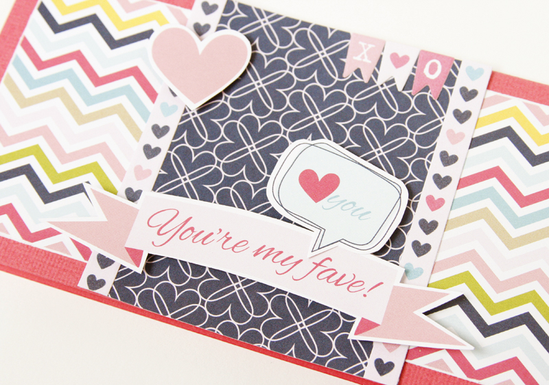 Gretchen McElveen_Kiss Me_You are my fave card close up