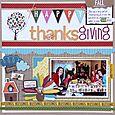 Jodi Wilton Happy Thanksgiving Layout