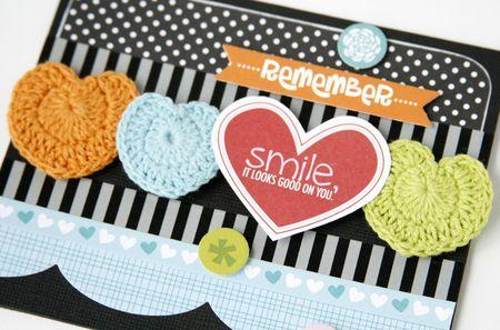 Gretchen McElveen_Crochet Hearts_Smile card close up