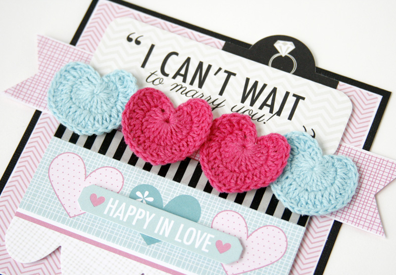 Gretchen McElveen_Crochet Hearts_Can't Wait to Marry You card close up
