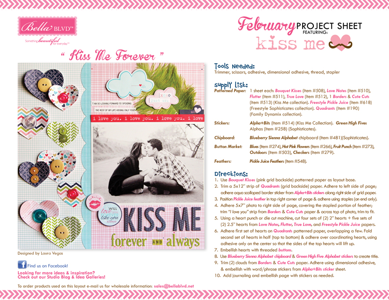 2013 BBLVD KISS ME PROJECT SHEET