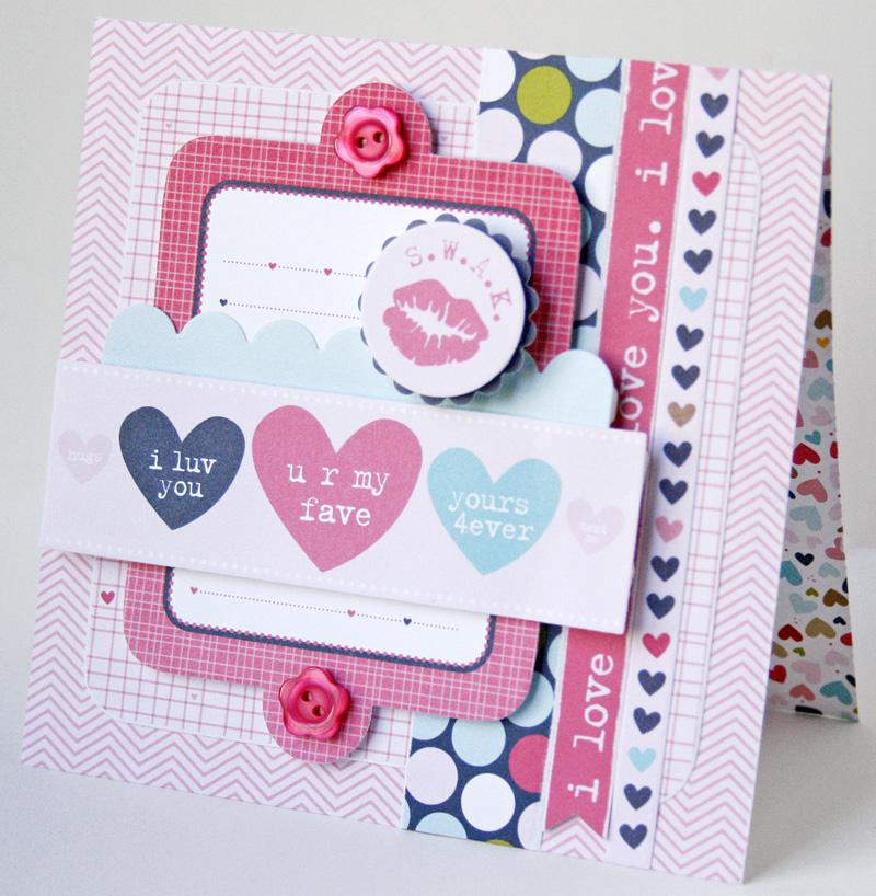 Gretchen McElveen_Kiss me card_SWAK card
