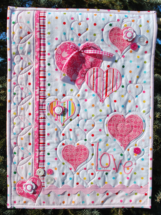 KathyFrye_photo 1 LOVE wall hanging 2013