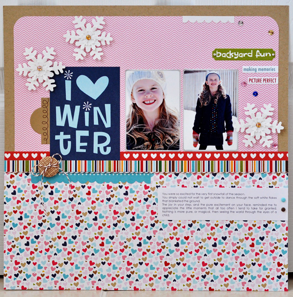 I love winter - layout - sheri reguly