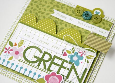 Gretchen McElveen_St Pats Day card_Dont forget your Green card_close up