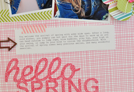 Sheri Reguly - Hello Spring - Layout - detail 2