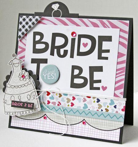 Gretchen McElveen_Stamped card_Bride to Be