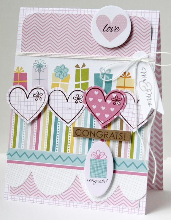 Gretchen McElveen_Stamped card_Congrats