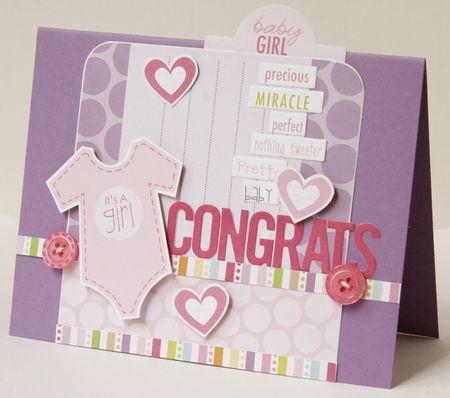 Gretchen McElveen_Baby Girl card_Congrats card