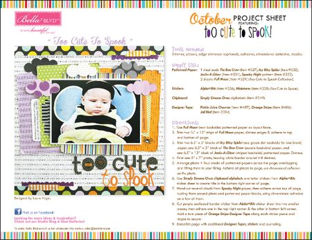 BB TOO CUTE TO SPOOK PROJECT SHEET 2012