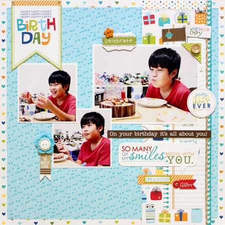 Yohko Takiguchi_happy birthday_layout