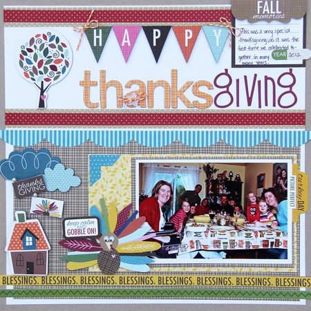 Jodi Wilton Happy Thanksgiving Layout