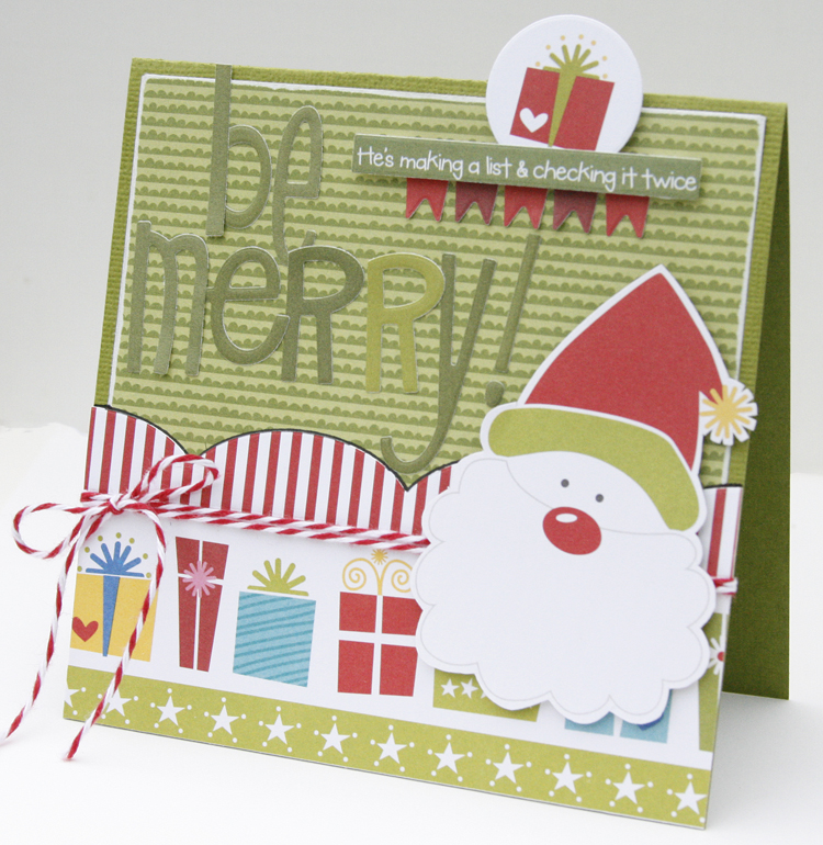 Gretchen McElveen_Christmas card_Be Merry