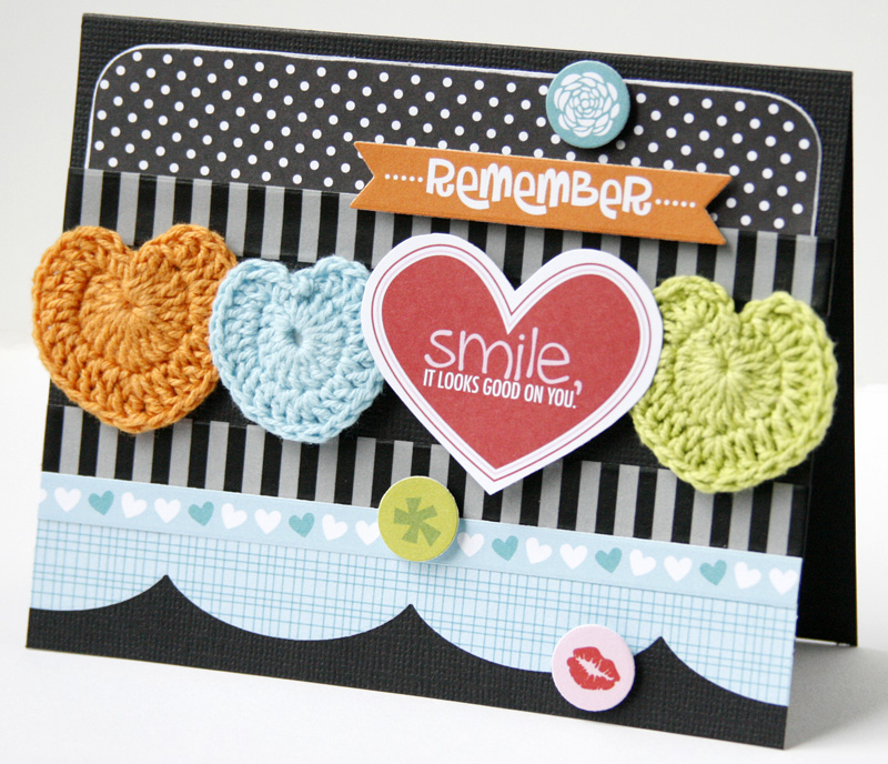 Gretchen McElveen_Crochet Hearts_Smile card