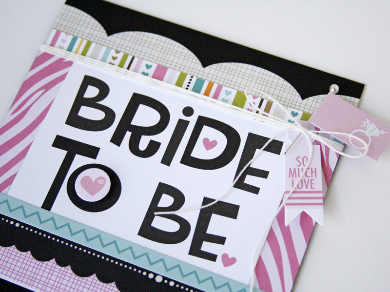 Gretchen McElveen_Engaged at Last_Bride to be card close up