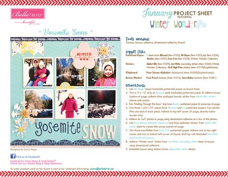 2013 BBLVD WINTER WONDER PROJECT SHEET