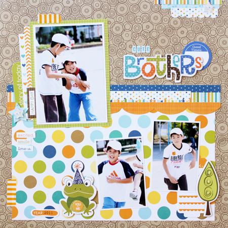 Yohko Takiguchi_cute brothers_layout