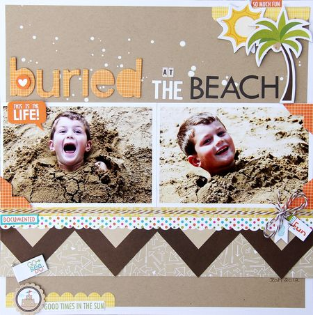 Jodi Wilton-buried at the beach