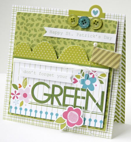 Gretchen McElveen_St Pats Day card_Dont Forget your Green card