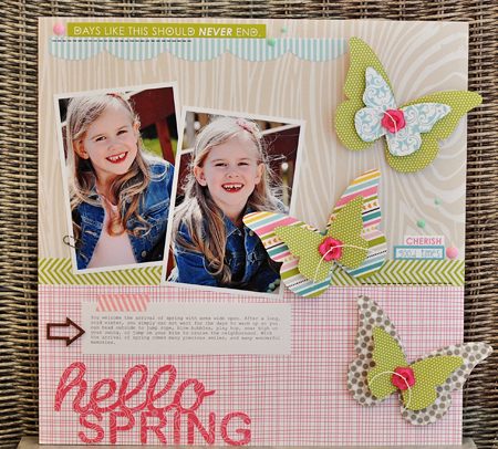 Sheri Reguly - Hello Spring - Layout
