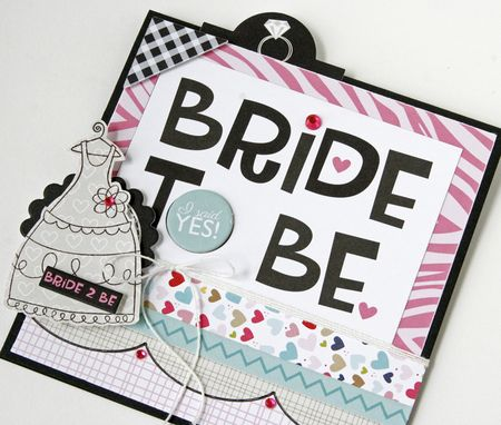 Gretchen McElveen_Stamped card_Bride to Be close up