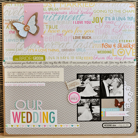 Sheri Reguly _ Our Wedding Day _ layout