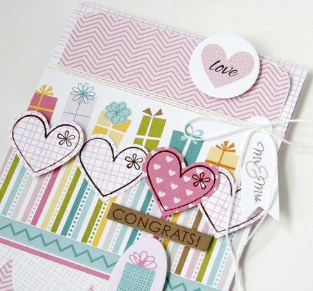 Gretchen McElveen_Stamped card_Congrats close up