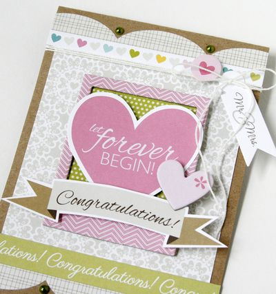 Gretchen McElveen_Wedding card _Congratulations close up