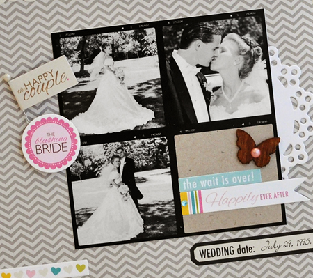Sheri Reguly _ Our Wedding Day _ layout _ detail 2