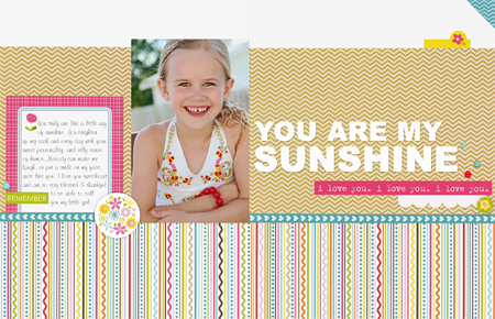 Sheri Reguly - You Are My Sunshine - Layout